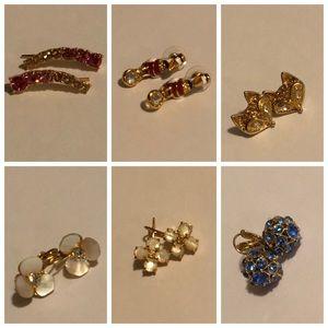 7 pairs of Kate spade earrings